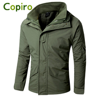 Copiro Double Layer Waterproof Windproof Winter Outdoor Jacket Hiking Clothes Jaquetas Masculino Warm Hunting Fishing Clothing