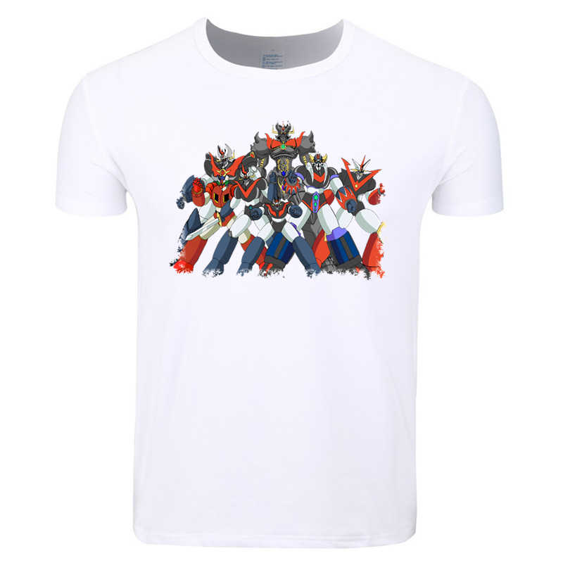 Asian Size Men Print Mazinger Z Japanese Anime Old Classic Manga Robot T- shirt Summer ee2dfb08a67c