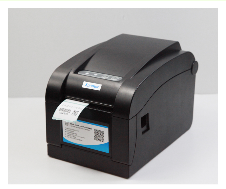 80mm Direct Thermal Barcode Printer Sticker Label Printer Barcode Label Printer USB+Serial+LAN Interface get a Label Paper