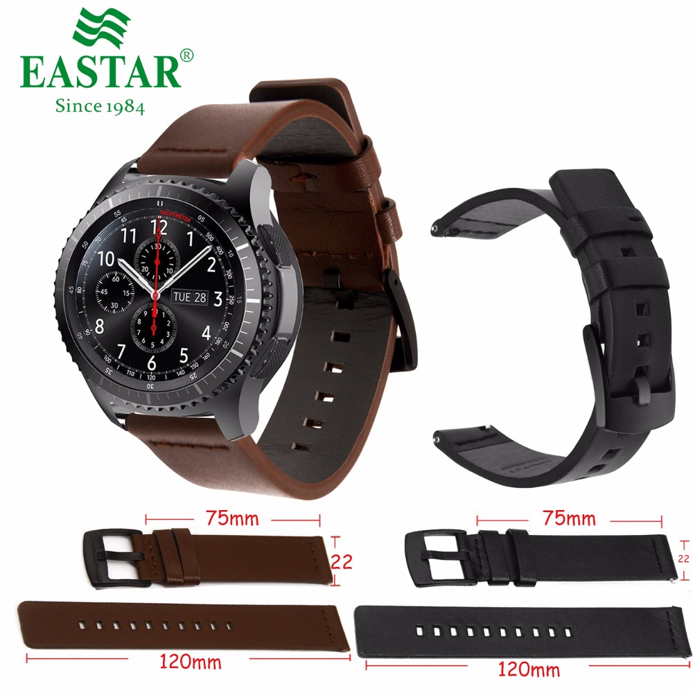 Genuine Classic Leather Strap For Samsung Gear S3 Band Frontier Strap For Gear S3 Classic Watchband 22mm Watch Bracelet tearoke 11 color silicone watchband for gear s3 classic frontier 22mm watch band strap replacement bracelet for samsung gear s3