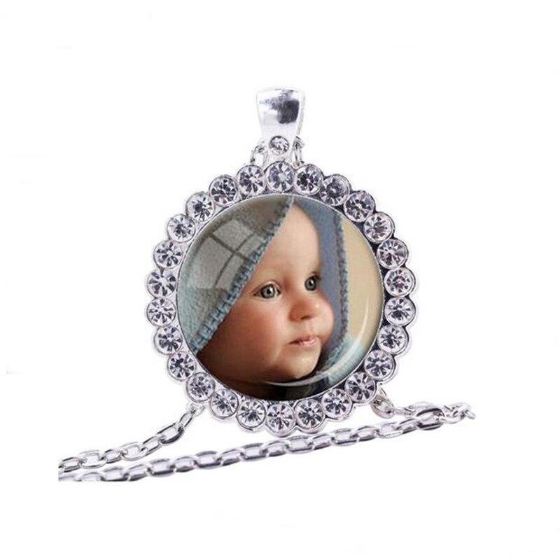 Кулон с фотографией на заказ, ожерелье с фотографией вашего ребенка, мамы, папы, внука, ребенка, любимого человека, подарок для членов семьи