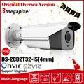 Hik DS-2CD2T32-I5(4mm) 3mp Latest Original English Version security camera poe H.264 50m ir camera 12v poe NVR IP66