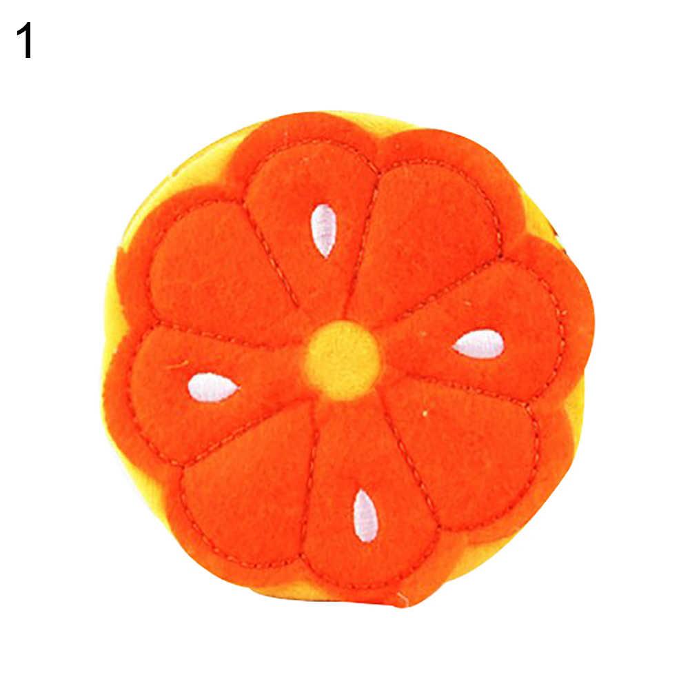 Арбуз оранжевый фрукты форма плюшевый брелок-Кошелек для монет подвеска в виде монеты Карманный Кошелек