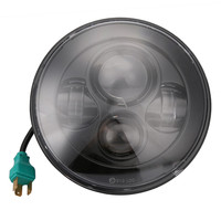 2PCS Pair Universal Car LED 7 Inch Round Projector Headlights Black Housing Low High H6024 H6012