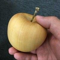 나무 조각 애플 장식 홈 액세서리 데스크탑 조각 공예 (a339)