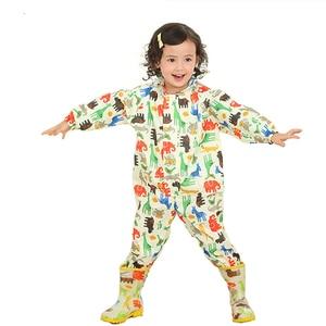 Image 3 - 3 8 Years Old Kids Cartoon Waterproof Jumpsuit Raincoat Boys Girls Rainwear Children Poncho Animal Deer Hooded Raincoat Suit