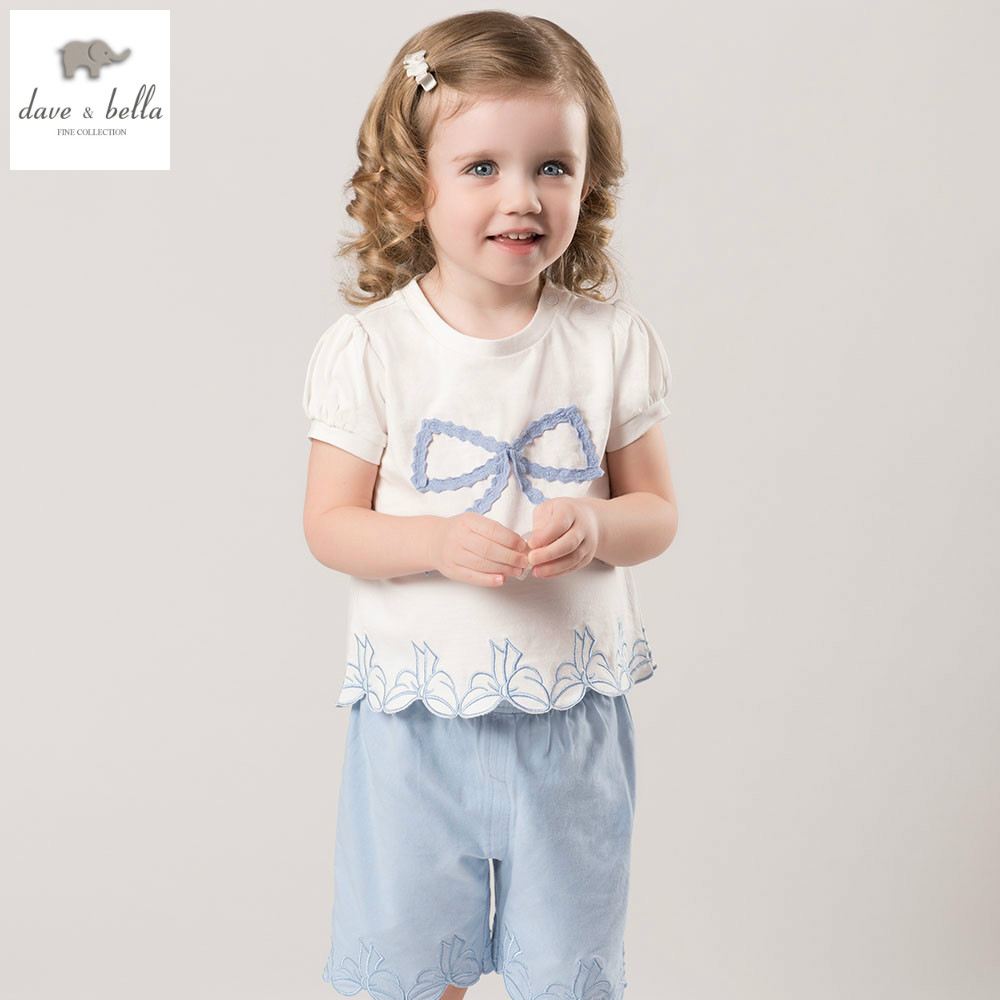 DB5259 dave bella summer baby girls clothing sets child cute sets kids toddle cloth baby fancy clothes children chothing sets db4065 dave bella autumn baby girls cute lolita clothing set kids sets