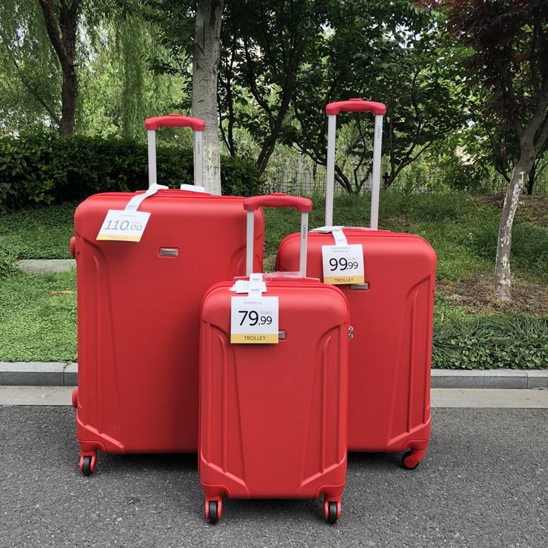"""Opowieść podróży 20 """"24"""" 28 """"cal abs twarda strona rozbudowy wózek na kółkach wózek walizka 3 sztuk bagażu zestaw na kółkach w Zestawy bagażowe od Bagaże i torby na  Grupa 2"""