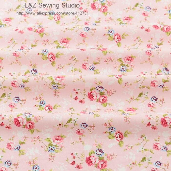 Nuevo 156 #-3 rosa impreso floral patrones 50 cm x 160 cm/piece algodón tela til