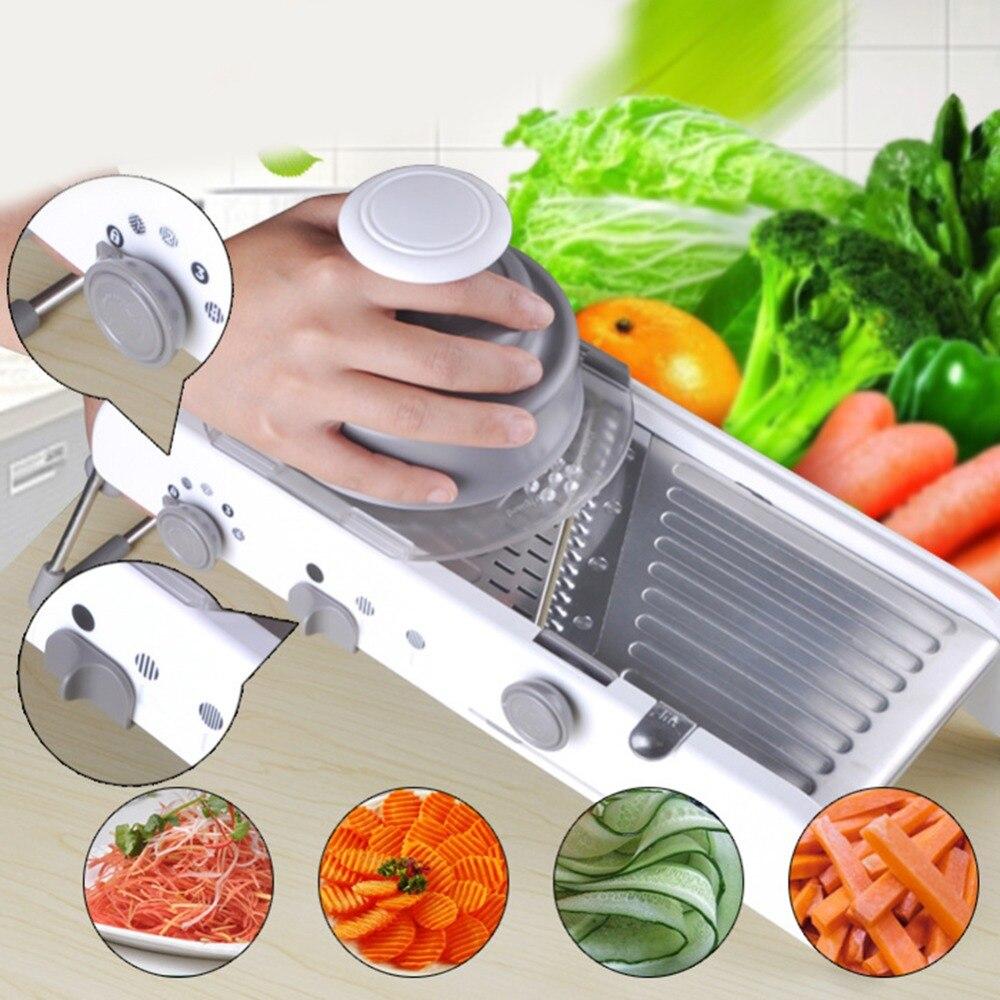 Lames en acier inoxydable coupe légumes réglable Mandoline trancheuse râpe professionnelle accessoires de cuisine Gadgets nouveau