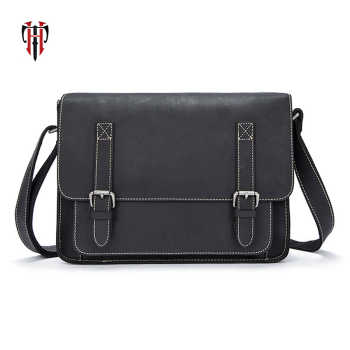 TIANHOO vintage style man bags of genuine leather cow leather men's shoulder & crossbody flap bags briefcase - DISCOUNT ITEM  29% OFF All Category