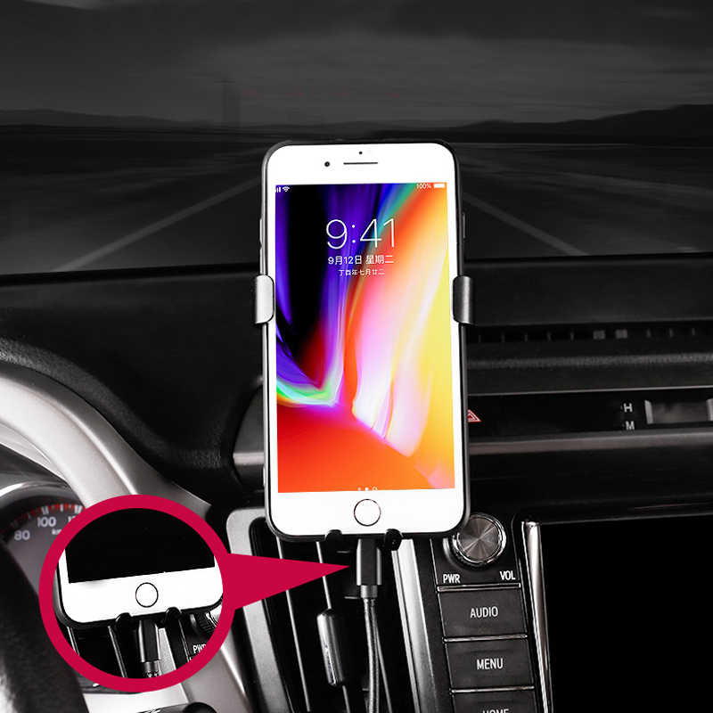 X XS fit for Samsung S9,S10 Smartphone Wireless Charging Phone Holder,Electric Automatic Retractable Air Vent Holds Mount fit for Toyota RAV4 2018 2017,Car Phone Mount fit for iPhone 8
