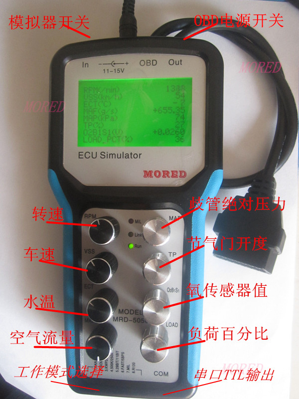 Automotive OBD2 J1939 Simulator, Development Testing Tools For Debugging And Production
