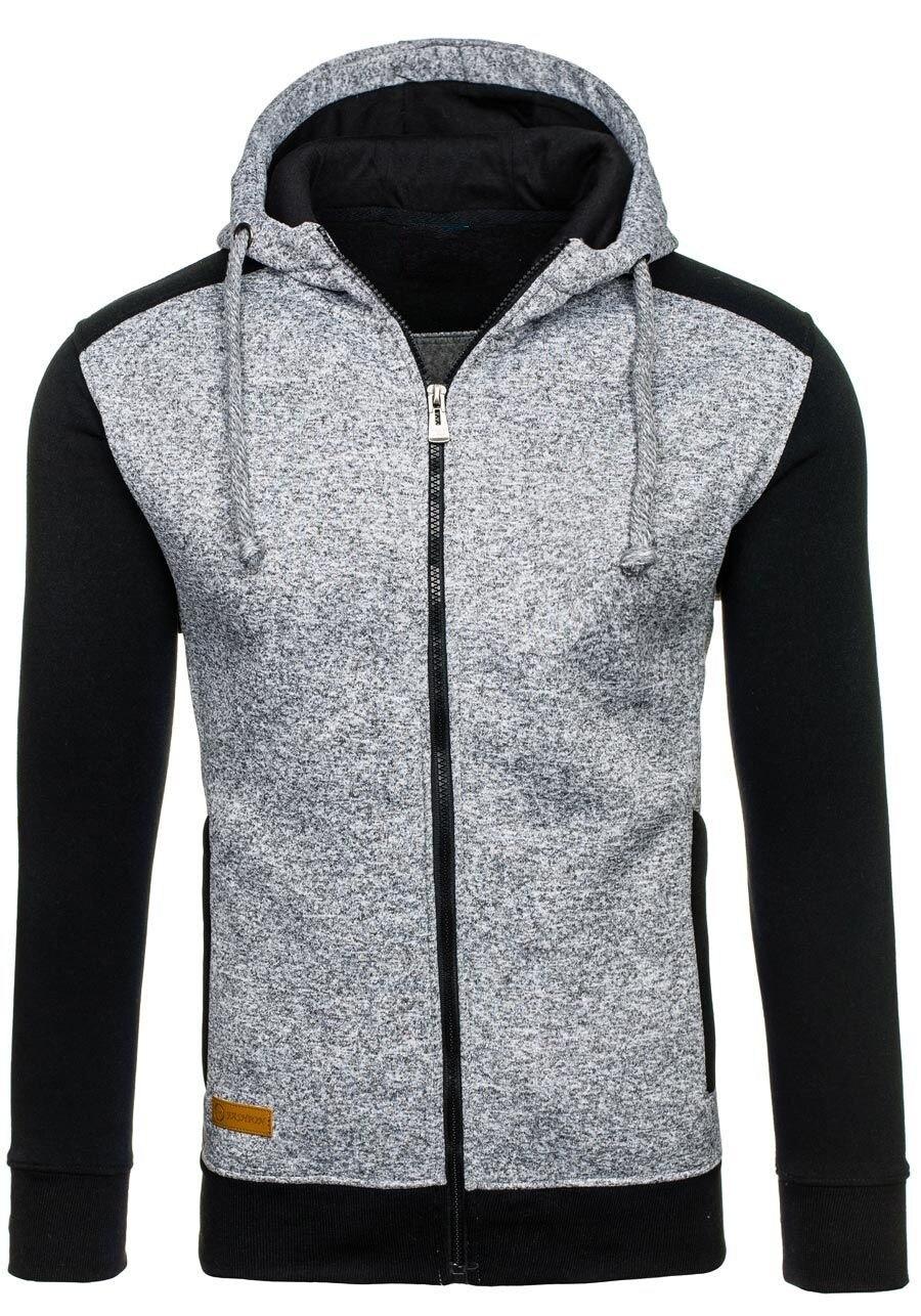 ZOGAA Hot Sale Men 39 s Hooded Jackets Autumn Men Thick Warm Sweatshirts Male Patchwork Zipper Cardigan Jacket Warm Jumper Outwear in Jackets from Men 39 s Clothing