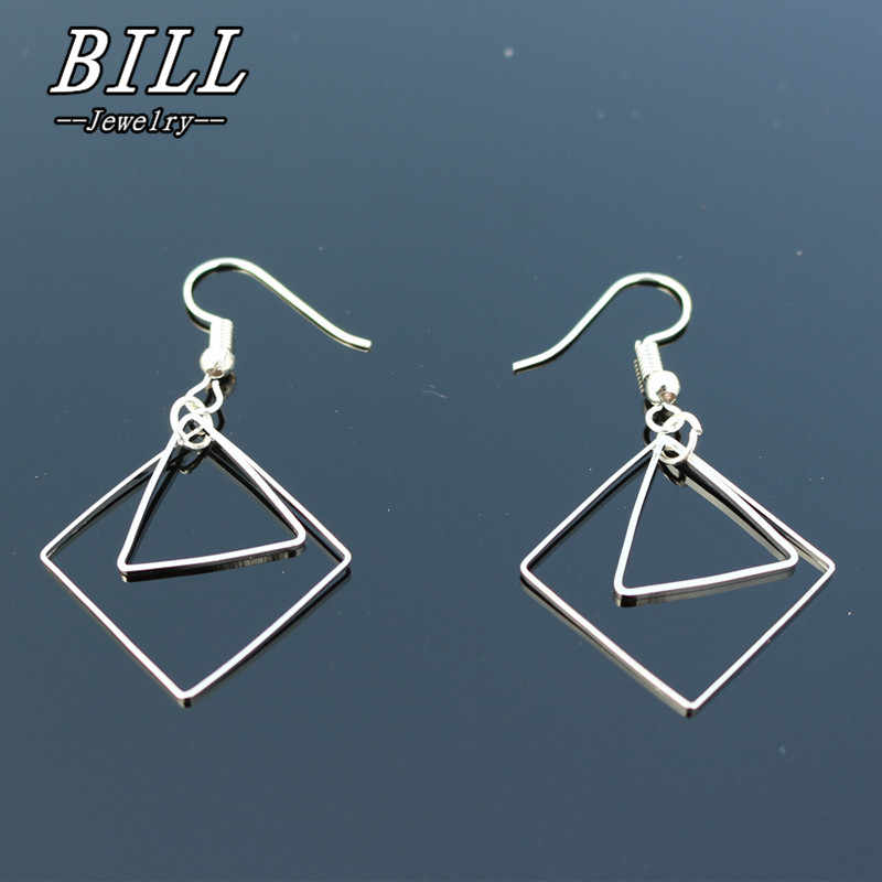 ES2016 Triangle Geometric Drop Earrings Women Dangle Earring Fashion Brincos Simple Metal Ear Fine Jewelry One Direction 2018