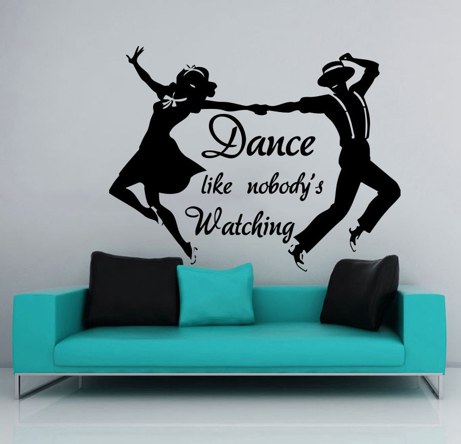 Genial Dance Wall Decal Studio Girl And Man Dancers Dancing Pionte PVC Art Wall  Sticker Gym Pub Bar Decor Bedroom Decorative Decoration In Wall Stickers  From Home ...