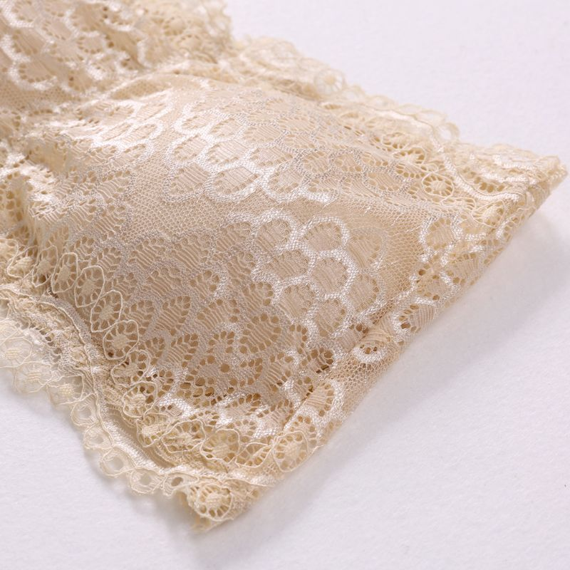 Womens Floral Lace Seamless Bandeau Wire Free 4-Hook Bralette Strapless Tube Top W729