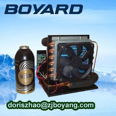 R134a dc 12v 24v refrigeration units mini refrigeration system with mini 24v dc compressor for mini air conditioner for car boyard 12v 24v refrigeration compressor for car minibar