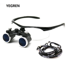 2.5X 3.5X Head Wearing Dental Loupe Ultralight Binocular Magnifier Pupil Adjustable Goggle Dentist Surgical Loupes недорго, оригинальная цена