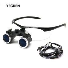 2.5X 3.5X Hoofd Dragen Dental Loupe Ultralight Brillen Verrekijker Vergrootglas Leerling Verstelbare Tandarts Chirurgische Loepen