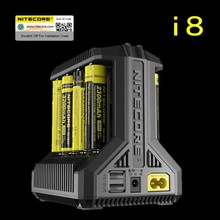 Nitecore i8 Chargeur Intelligent 8 Slots Total 4A Sortie Chargeur Intelligent pour IMR18650 16340 10440 AA AAA 14500 26650 et USB Dispositif