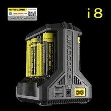 Nitecore i8 Sạc Thông Minh 8 Slots Tổng 4A Đầu Ra Thông Minh Sạc đối với IMR18650 16340 10440 AA AAA 14500 26650 và thiết Bị USB