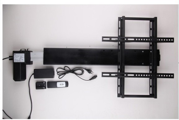 TV lift TV stand TV mount 110-240V AC input 600mm 24inch stroke with remote and controller and mounting bracket parts