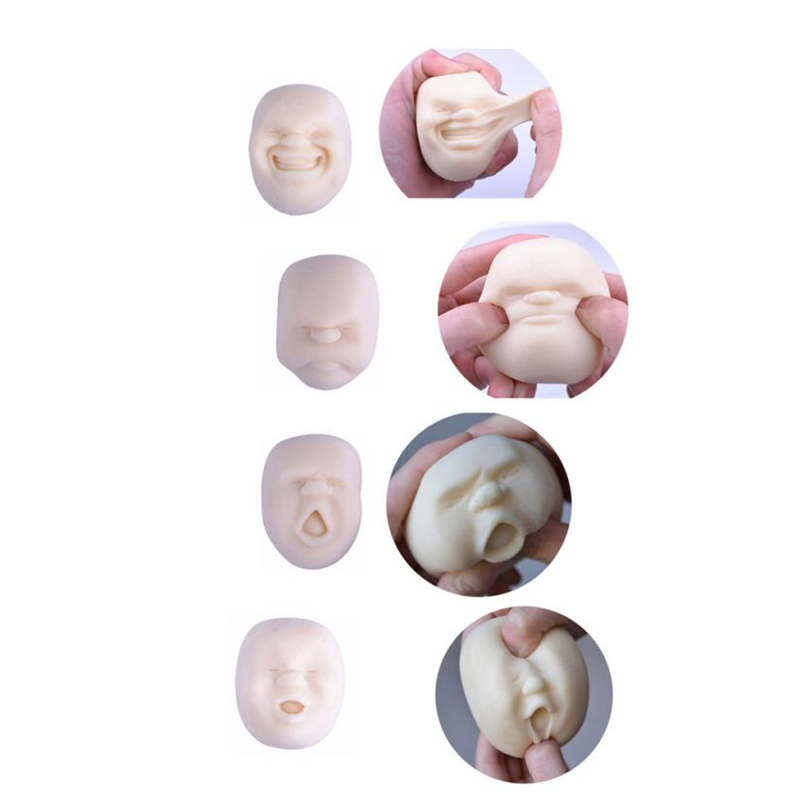 Mini Toy Fidget Humorous Face Top Anti Stress Helper Pressure Reliver Slow Rising Toys Fun Simulation Toy For Kids Decompression