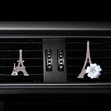 Paris tower car air freshener perfume Perfume clip for conditioner outlet automobile bottle diffuser