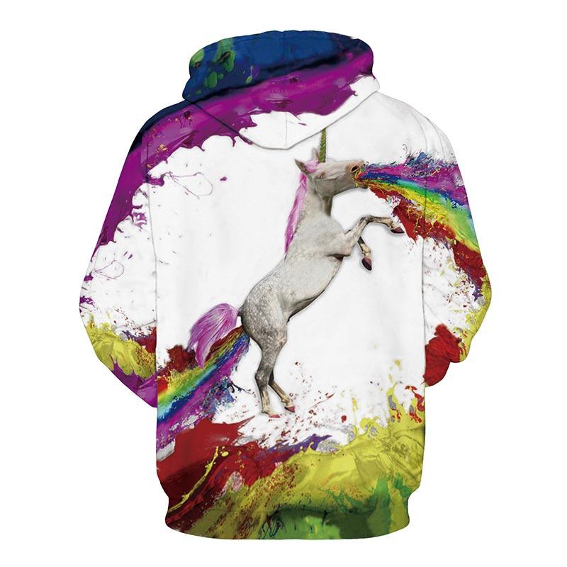 US $18.84 35% di SCONTO|Headbook Arcobaleno Cavallo di Stampa Digitale Con Cappuccio Felpe Per Gli UominiDonne 3d Felpe A Manica Lunga Con Cappuccio