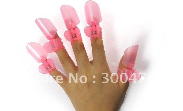 Whole 10packs Lot Finger Nail Polish Protector Shield Cover Kit Clipper Tips Clip Manicure