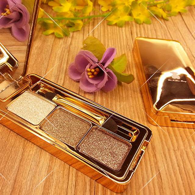 3 Color Super Shining Eye Shadow Set Waterproof Makeup Cosmetic Long Lasting Diamond Color Makeup Shimmer Matte Eyeshadow