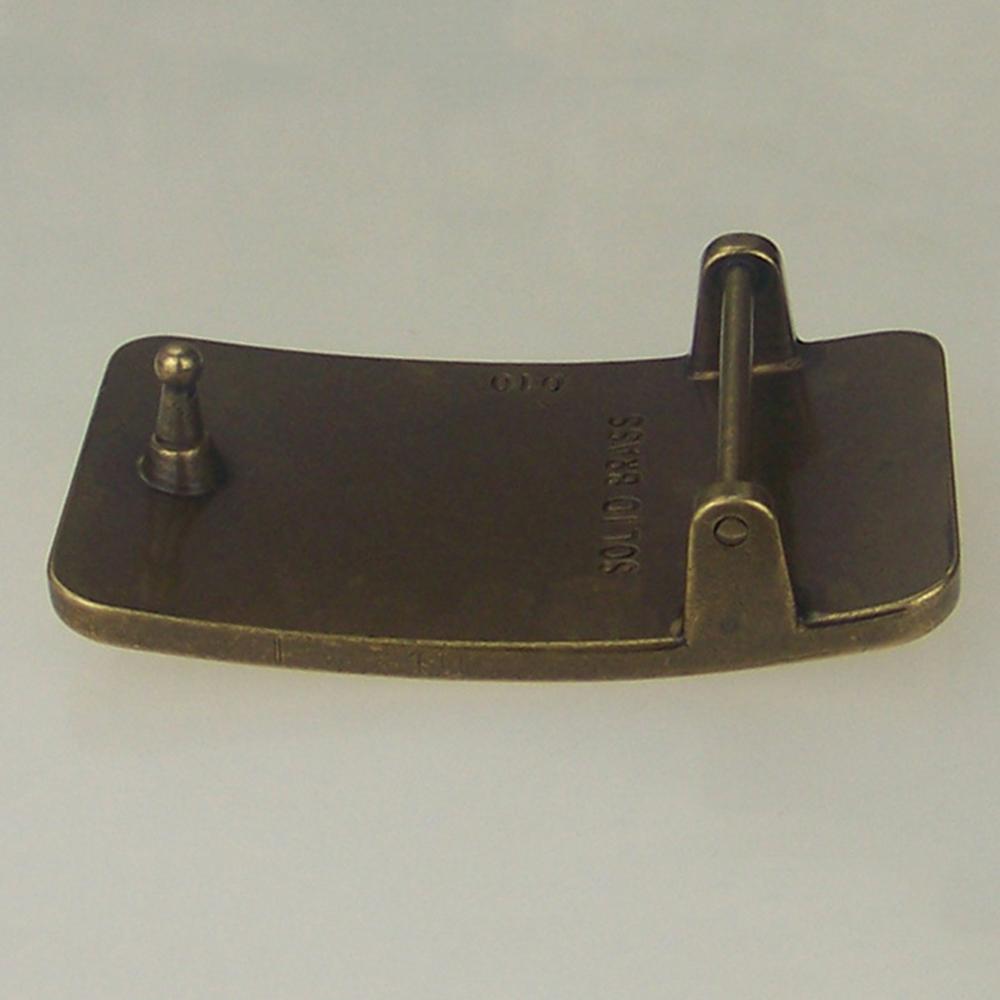FAJARINA Euramerican Smooth Buckle Styles Exquisite Eight Horses Map   Embossed Belt Buckle   Solid Brass Buckles for Men BCK005