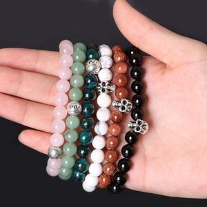 Image 5 - Turno di Pietra naturale Perline FAI DA TE Kit per Fare il Braccialetto, tra cui Buddha & Skull beads & Corda Elastica & Liste Box