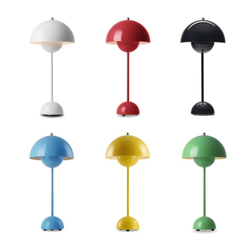 Us 101 25 Off Modern Bedroom Lamp Verner Panton Flowerpot Lacquered Table E27 Reading Desk Light For Home Decoration In Led Lamps From
