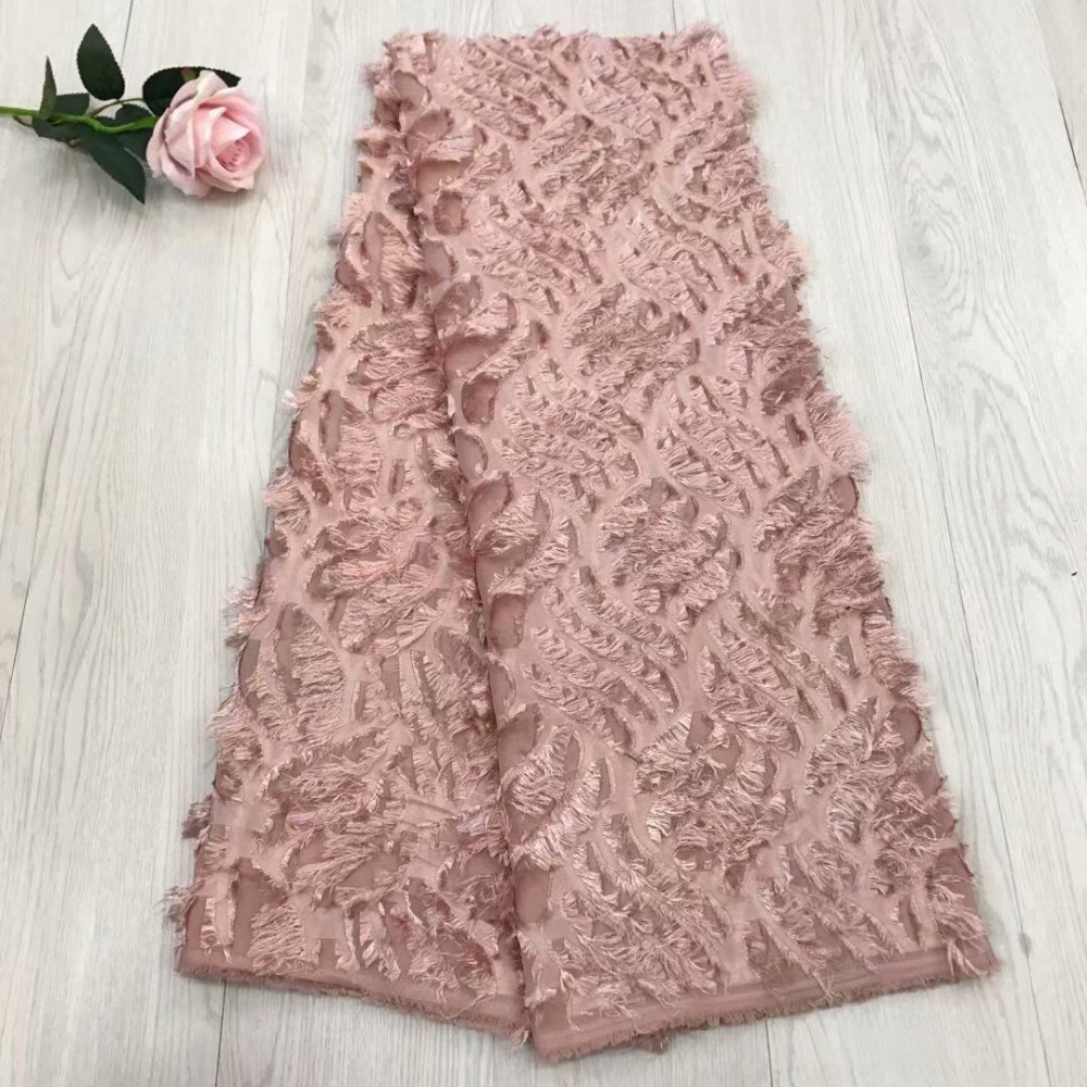 2018 high quality Chiffon French cord Swiss net lace Nigerian African tulle mesh lace fabric for