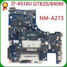 For Lenovo G50-70 Z50-70 i7-4510u  motherboard ACLUA/ACLUB NM-A273 Rev1.0 with graphics card 100% tested free shipping