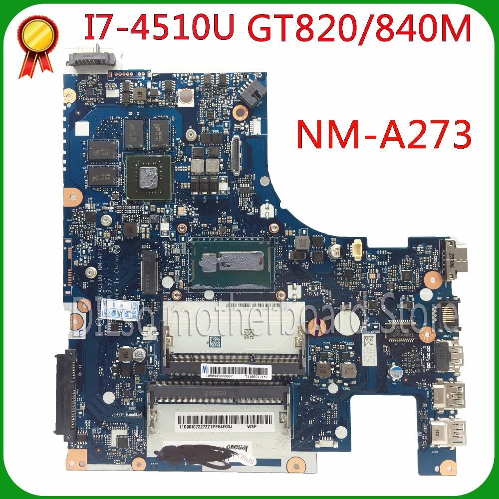 KEFU G50-70M Para Lenovo G50-70M G50-70 Z50-70 i7-4510u motherboard ACLUA/ACLUB RECENTEMENTE NM-A273 Rev1.0 Teste frete grátis