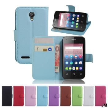 """pixi 4 Wallet Flip Leather tpu Case With Card Slots Stand Holder Cover For Alcatel One Touch pixi 4 OT5045X OT5010D5.0"""""""