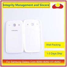 10 unids/lote para Samsung Galaxy Core I8260 I8262 GT I8262 GT I8260 vivienda puerta de la batería trasera funda chasis de
