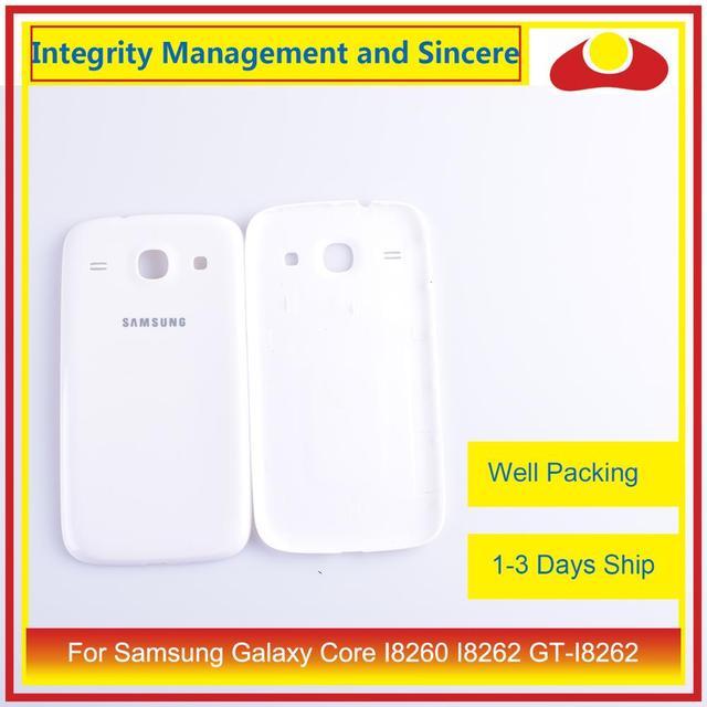 Per Samsung Galaxy Core I8260 I8262 GT I8262 GT I8260 Dellalloggiamento Del Portello Della Batteria Posteriore di Caso Della Copertura Posteriore Telaio Borsette di Ricambio