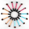 Fundación Blush Powder Brush Flat Top Cosmética Pequeño bastante cintura cepillo cosmético Pinceles de Maquillaje