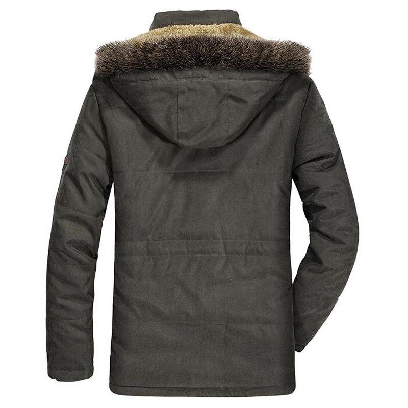 Image 3 - Winter Jacket Men Fur Collar Thicken Casual Cotton Jackets Windbreaker Plus Velvet Parkas Size 6XL Mens Winter Long Overcoat-in Parkas from Men's Clothing