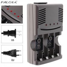 PALO C819 LED Light Smart Charger For NI-MH NI-CD AA AAA Rechargeable Batteries For NI-CD LI-ION 9V 6F22 Battery US / EU Plug gtf 16 2 bay slot smart lcd charger for ni mh ni cd aa aaa battery ni mh li ion 9v batteries