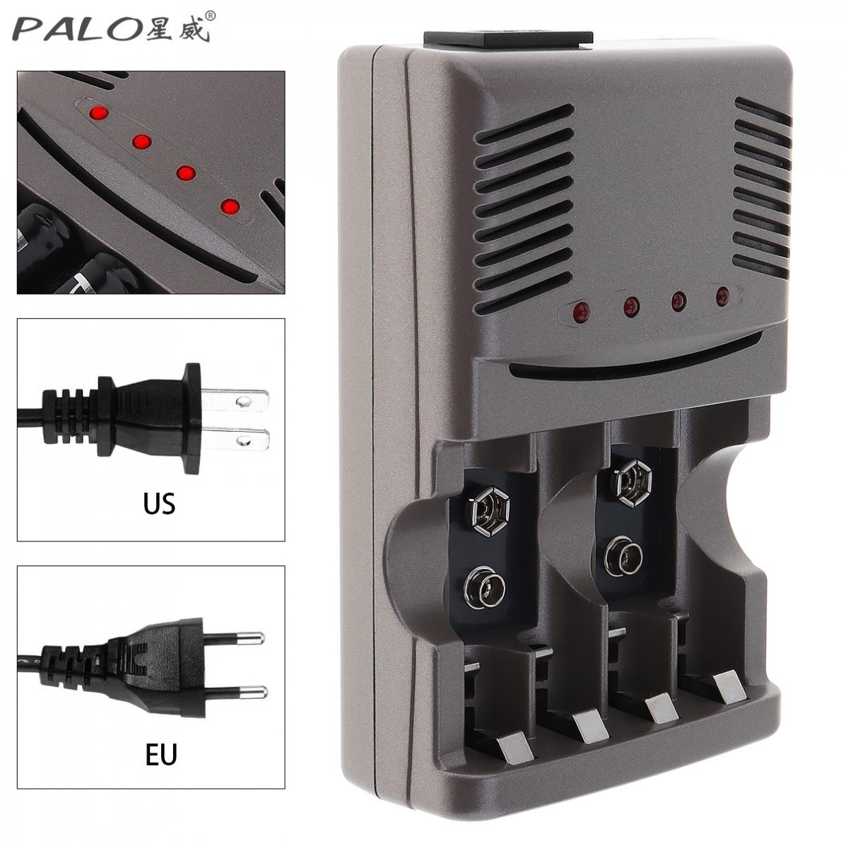 PALO C819 LED Light Smart <font><b>Charger</b></font> For NI-MH NI-CD AA AAA Rechargeable <font><b>Batteries</b></font> For NI-CD LI-ION <font><b>9V</b></font> 6F22 <font><b>Battery</b></font> US / <font><b>EU</b></font> Plug image