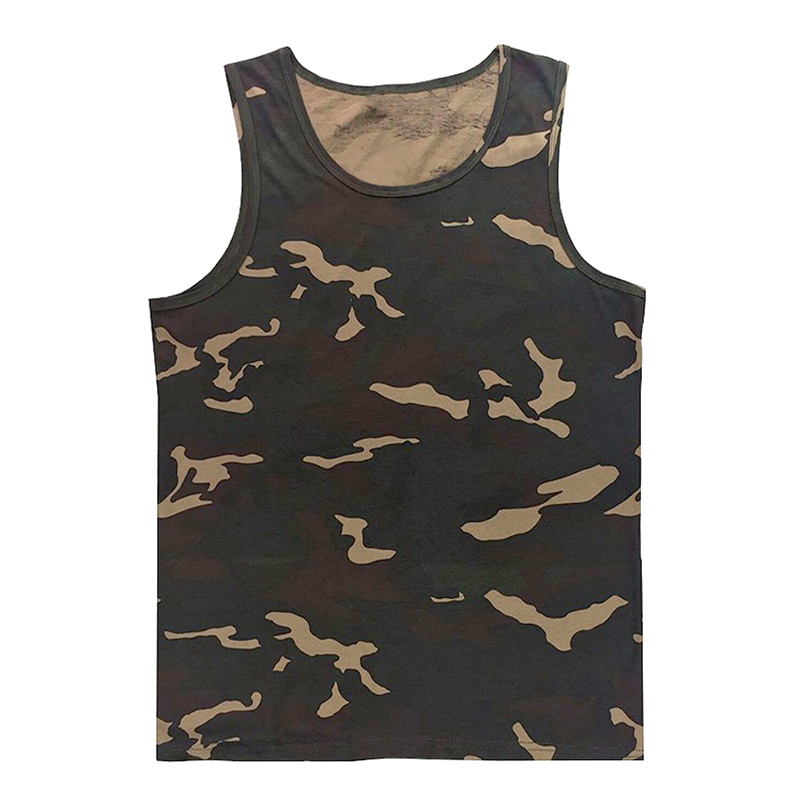 Sale Beach Casual Vest Mens Bodybuilding Singlet Undershirt Boys Camouflage Uniforms Men's   Tank     Tops   Sleeveless Shirt Size 5XL