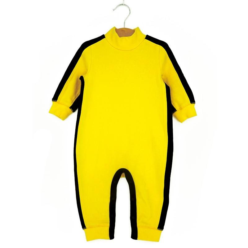 Брюс Ли, комбинезон для новорожденных, с длинными рукавами, хлопковая одежда для маленьких мальчиков и девочек, одежда для сна, однотонный д...