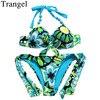 Trangel Bikinis Women 2017 Sexy Beach Swimwear Push Up Swimsuits Low Waist Bikini Solid Color Monokini