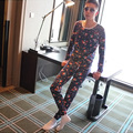 Fashion printed low waist thin section thermal underwear cotton sweaters knitted wool trouser suit basis HY513/613