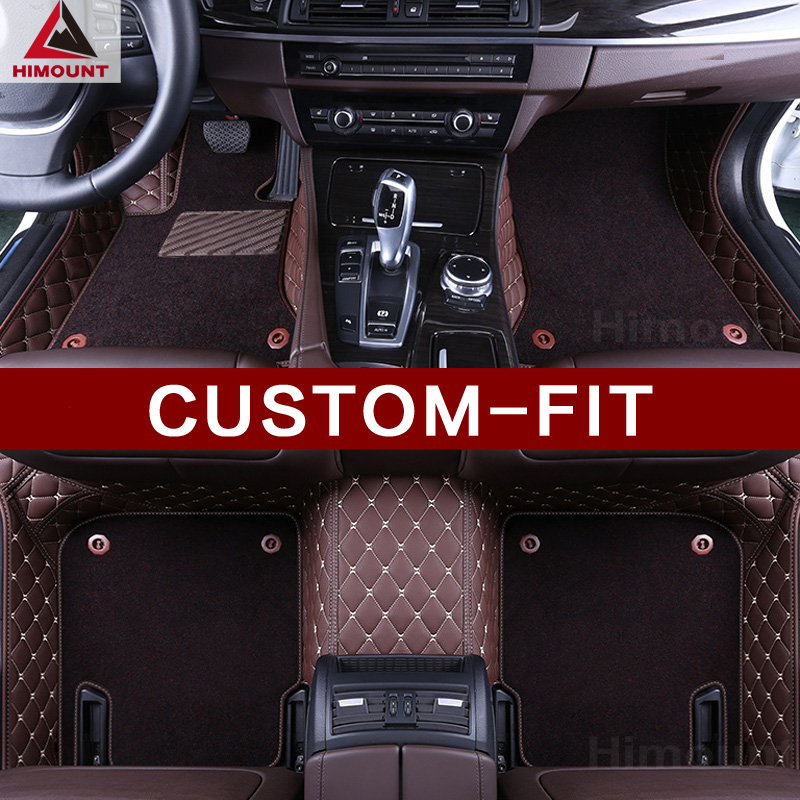 Custom made voiture tapis de sol spécialement pour Audi A8 L S8 A8L D3 D4 A6 A7 Q5 Q7 de luxe en cuir pleine couverture tapis de haute qualité tapis